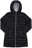 Point Zero Black Hooded Longline Puffer Jacket