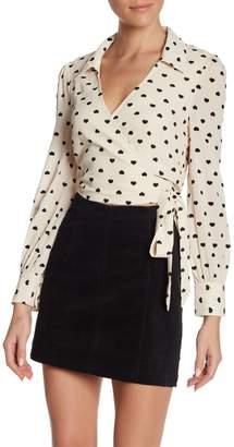 Velvet Heart Wild Honey Spread Collar Wrap Shirt