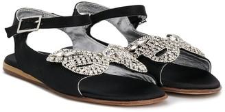 Mi Mi Sol TEEN crystal bow sandals