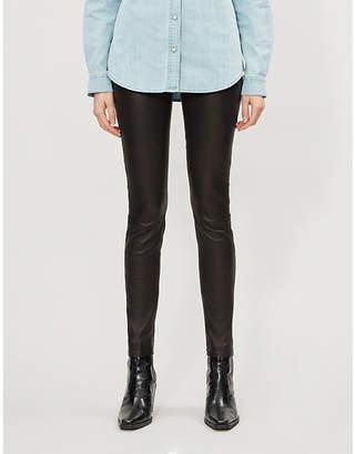 J Brand Macy high-rise leather skinny trousers