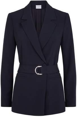 Claudie Pierlot Belted Tailored Blazer