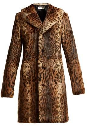 Saint Laurent Leopard Print Rabbit Fur Coat - Womens - Leopard