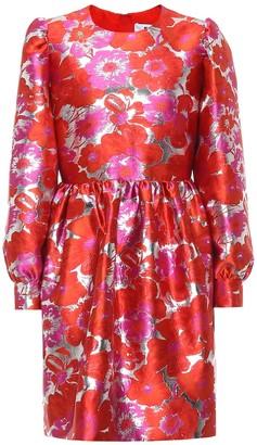 MSGM Floral brocade minidress
