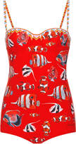 Dolce & Gabbana Sweetheart Fishes Swimsuit