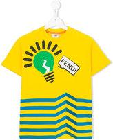 Fendi lightbulb striped T-shirt - kids - Cotton - 8 yrs