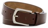 Steve Madden Center Stitched Leather Belt
