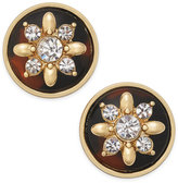 Charter Club Gold-Tone Tortoise-Look Floral Cluster Stud Earrings, Only at Macy's