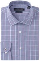Tommy Hilfiger Slim Fit Windowpane Non Iron Dress Shirt
