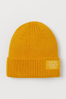 H&M Ribbed Hat - Yellow
