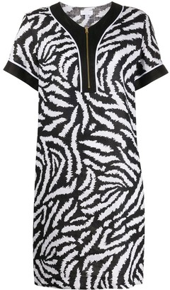 Escada Sport Zebra-Print Shift Dress