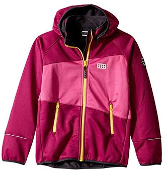 Lego Jacket with Windproof Finish and Detachable Hood (Toddler/Little Kids/Big Kids) (Bordeaux) Kid's Clothing