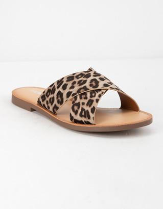Soda Sunglasses Lunacy Leopard Womens Sandals