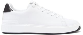 Balmain B-court Leather Trainers - White Black