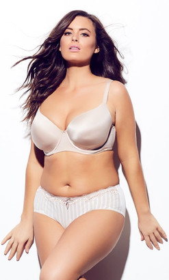 City Chic Smooth & Chic T-Shirt Bra - latte