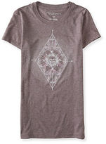 Aeropostale Womens Arrow Sun Graphic T Shirt Purple