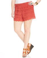 American Rag Trendy Plus Size Crochet Shorts