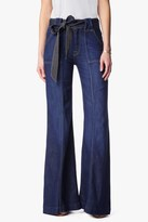 7 For All Mankind Belted Palazzo Pant In Saint Tropez Night