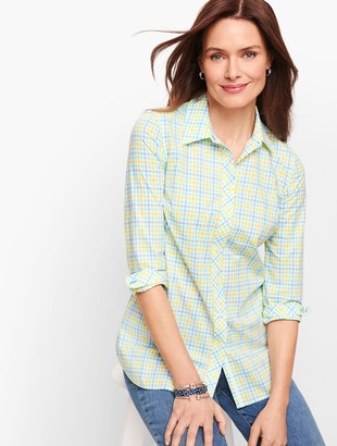 Talbots Classic Cotton Shirt - Colorful Gingham