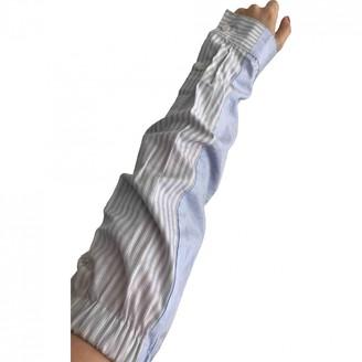 Maison Margiela Blue Cotton Gloves