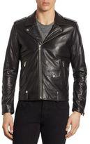 The Kooples Zip-Front Leather Jacket