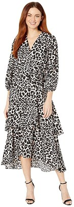 Calvin Klein Animal Print Midi Dress (Petal Multi) Women's Dress