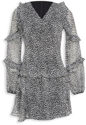 Bardot Junior Girl's Mimi Leopard A-Line Dress