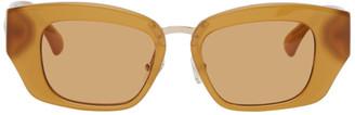 Dries Van Noten Orange Linda Farrow Edition Cat-Eye Sunglasses