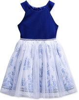 Sweet Heart Rose Embellished Fit & Flare Dress, Big Girls (7-16)