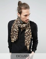 Reclaimed Vintage Inspired Scarf In Animal Print