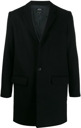 A.P.C. single breasted wool coat