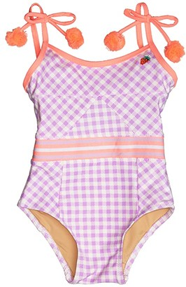 Shade Critters Cutout Back One-Piece in Gingham (Infant/Toddler) (Purple) Girl's Swimsuits One Piece