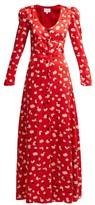 Rebecca De Ravenel Floral-print Silk Maxi Dress - Womens - Red Multi