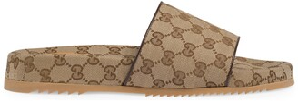 Gucci Men's GG canvas slide sandal