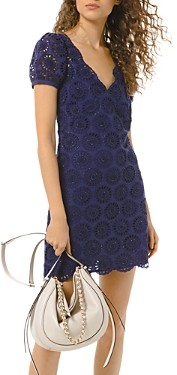 MICHAEL Michael Kors Cotton Floral Eyelet Dress