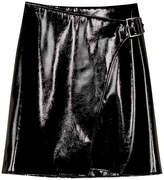 Karen Millen Faux-Leather Wrap Skirt