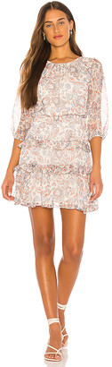 1 STATE Tiered Ruffle Lyrical Paisley Dress