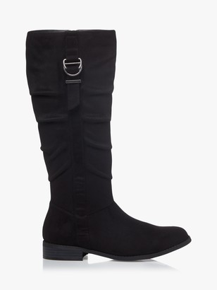 Head Over Heels Tobiias D-Ring Detail Knee Boots