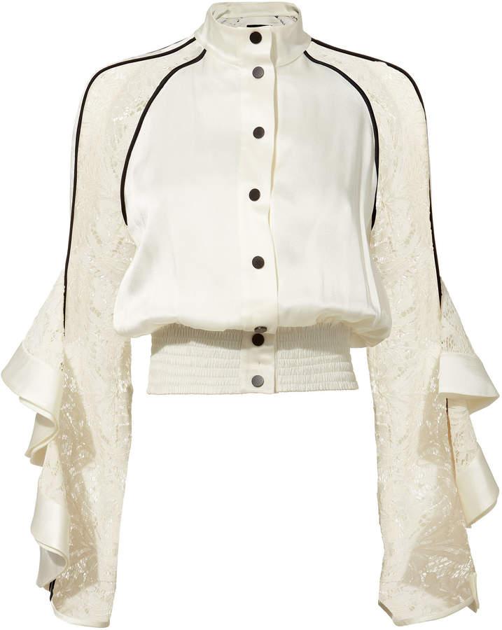 David Koma Ruffled Lace Jacket