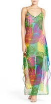 Charlie Jade Women's Palm Print Silk Maxi Dress