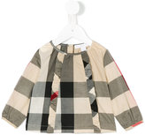 Burberry checkered blouse - kids - Cotton - 6 mth