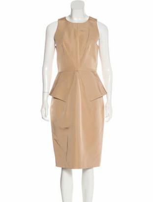 Cushnie et Ochs Silk Midi Dress w/ Tags Tan
