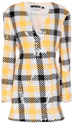 Rotate by Birger Christensen Caroline sequined houndstooth minidress