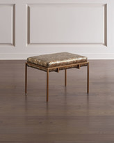John-Richard Collection John Richard Collection Metal Gold Upholstered Bench