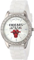 Game Time Women's NBA-FRO-CHI Frost NBA Series Chicago Bulls 3-Hand Analog Watch