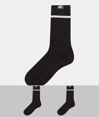 Nike Essential 2 pack socks in black