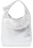 Loeffler Randall Mini Knot Leather Tote - Metallic