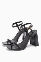 Topshop Womens Rocco Black Flare Heels - Black