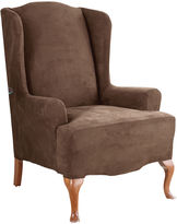 Sure Fit Stretch Faux-Suede 1-pc. Wing Chair Slipcover
