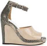 Maison Margiela snakeskin print wedge sandals
