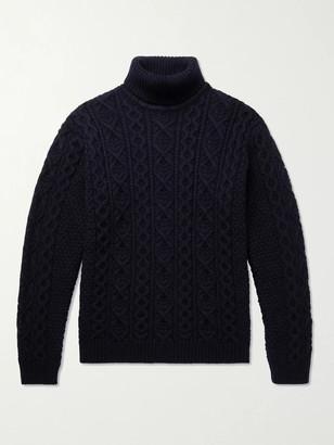 NN07 Bert Cable-Knit Wool Rollneck Sweater